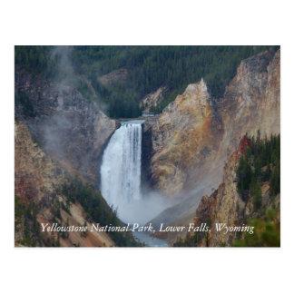 Cartão Postal Parque nacional de Yellowstone, mais baixo Fa…