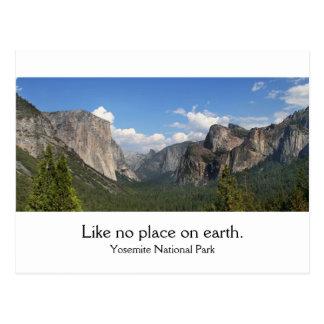 Cartão Postal Parque nacional de Yosemite