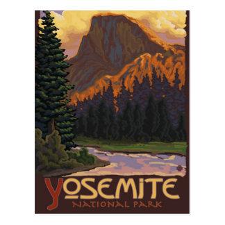 Cartão Postal Parque nacional de Yosemite - meio poster de