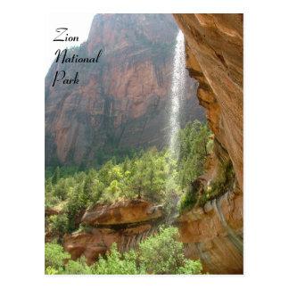 Cartão Postal Parque nacional de Zion