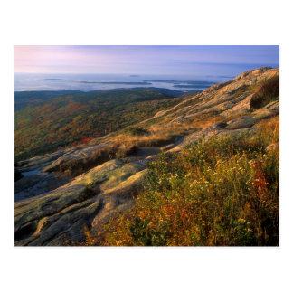 Cartão Postal Parque nacional do Acadia da montanha do cadillac