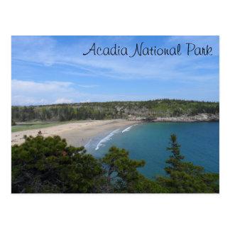 Cartão Postal Parque nacional do Acadia da praia da areia