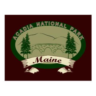 Cartão Postal Parque nacional do Acadia de Maine