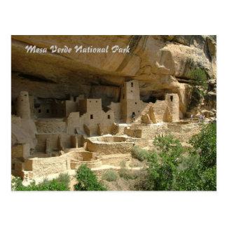 Cartão Postal Parque nacional do Mesa Verde