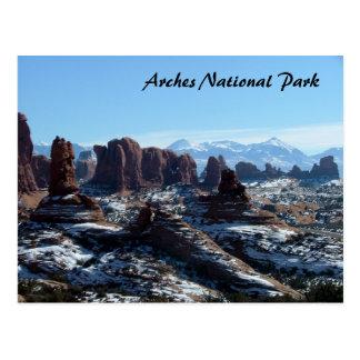 Cartão Postal Parque nacional dos arcos no inverno