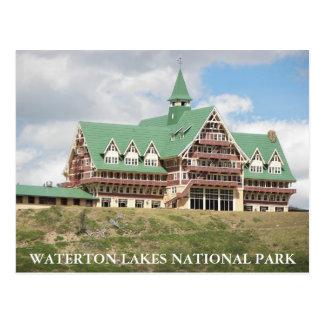 Cartão Postal Parque nacional dos lagos Waterton