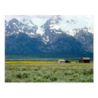 Cartão Postal Parque nacional grande de Teton