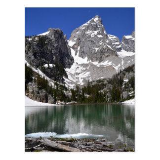 Cartão Postal Parque nacional grande de Teton do lago delta
