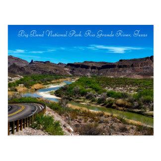 Cartão Postal Parque nacional Rio Grande River Texas de