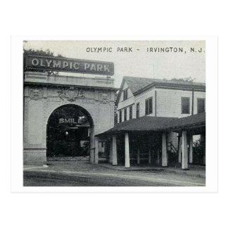 Cartão Postal Parque olímpico, Irvington, vintage de New-jersey