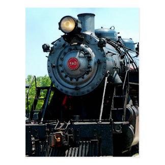Cartão Postal Parte dianteira da locomotiva de vapor