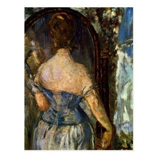 Cartão Postal Parte dianteira do espelho - Edouard Manet