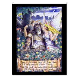 Cartão Postal Parte inferior e Titania