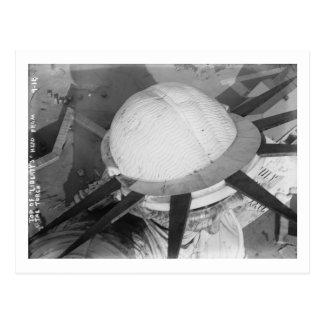 Cartão Postal Parte superior da estátua da liberdade da cabeça