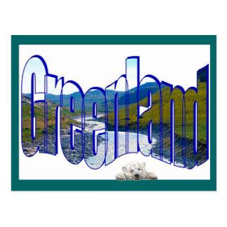 Cartão Postal Parte superior de Greenland do mundo
