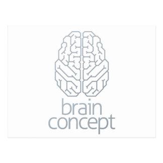 Cartão Postal Parte superior do conceito do cérebro