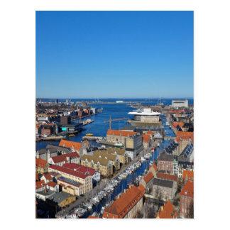 Cartão Postal Parte superior do porto de Copenhaga de Vor
