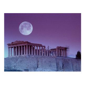 Cartão Postal Partenon crepuscular