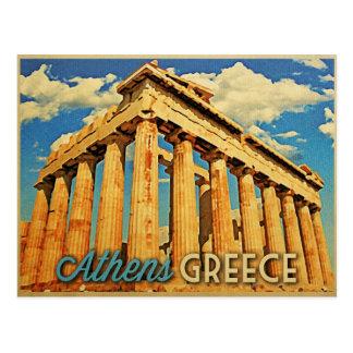 Cartão Postal Partenon da piscina de Atenas