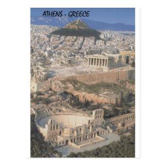 Cartão Postal Partenon do herodion de Atenas da piscina (St.K.)