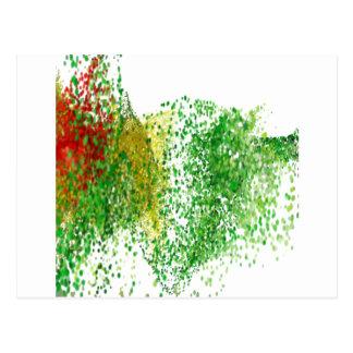 Cartão Postal Partículas coloridas vôo no ar