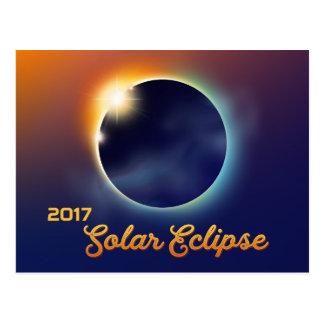 Cartão Postal Partido da astronomia do eclipse solar |
