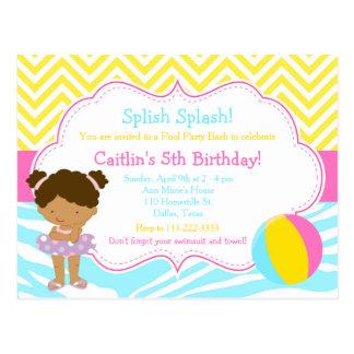 Cartão Postal Partido da festança da festa na piscina da menina