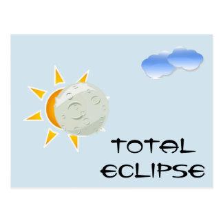 Cartão Postal Partido da visão do eclipse total