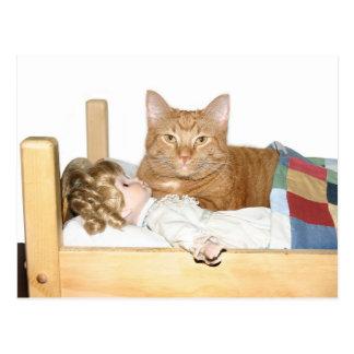 Cartão Postal Partido de descanso do gato