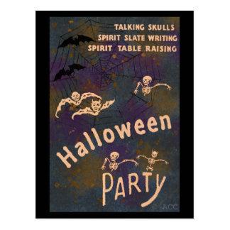 Cartão Postal Partido de fala do Dia das Bruxas da escrita do