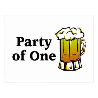 Cartão Postal Partido de uma cerveja