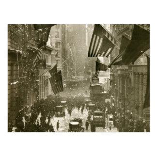 Cartão Postal Partido de Wall Street, extremidade de WW1, 1918