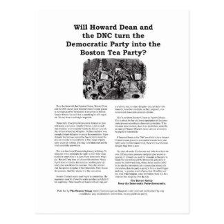 Cartão Postal Partido Democrática ou tea party de Boston