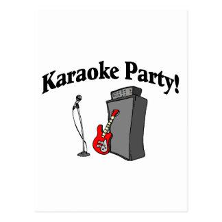 Cartão Postal Partido do karaoke