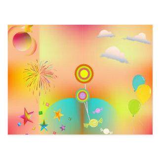 Cartão Postal partido e cores