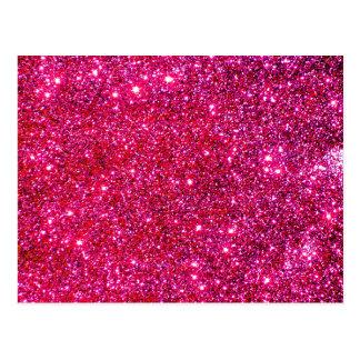 Cartão Postal Partido Glittery da mágica do feriado da faísca