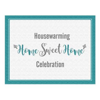 Cartão Postal Partido Home doce Home cinzento do Housewarming da