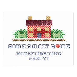 Cartão Postal Partido Home doce Home do Housewarming