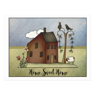 Cartão Postal Partido primitivo do Housewarming da casa da caixa