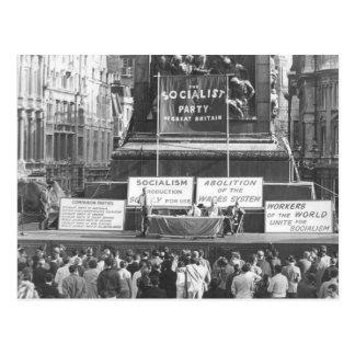 Cartão Postal Partido socialista de Grâ Bretanha Trafalgar 1967