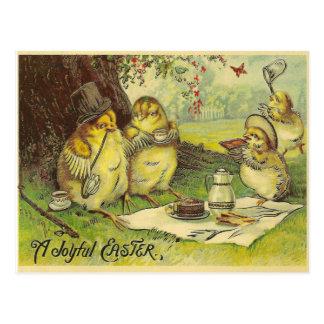 Cartão Postal Páscoa alegre do vintage