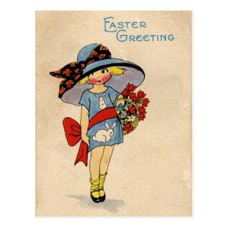 Cartão Postal Páscoa Cutie do vintage