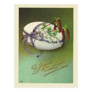 Cartão Postal Páscoa feliz do vintage