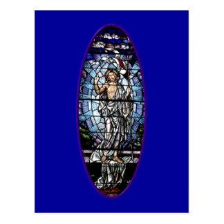 Cartão Postal Páscoa: Ressurreição do vitral do cristo
