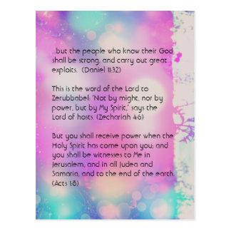 Cartão Postal Passagem da bíblia, bokeh bonito