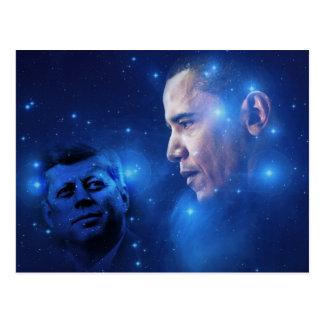 Cartão Postal Passagem da tocha, John F. Kennedy Barack Obama