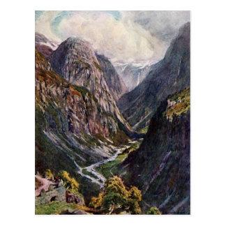 Cartão Postal Passagem de montanha norueguesa