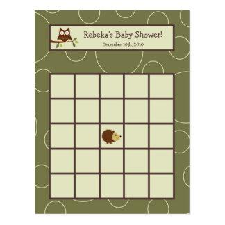 Cartão Postal Pássaro animal dos cervos da coruja de Forrest do