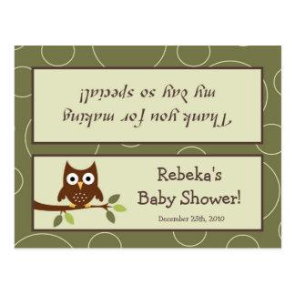 Cartão Postal Pássaro animal Porc dos cervos da coruja de