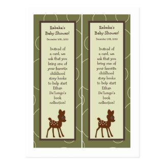Cartão Postal Pássaro animal Porcupin de 2 cervos da coruja de